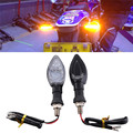 2Pcs Motorcycle Turn Signal Indicator Light 13LED SMD LENS Blinker High Amber