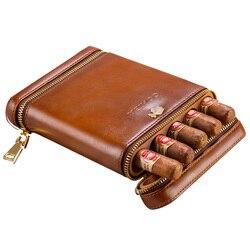 COHIBA étui à cigares de voyage Portable | En cuir de cèdre, humidificateur hydratant, livraison gratuite, 3