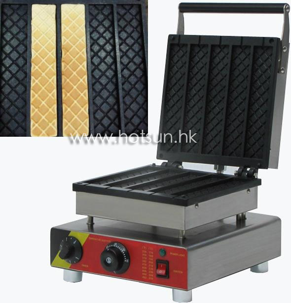 5pcs Commercial Use Non stick 110v 220v Electric Chocolate Belgian Waffle Stick Machine Baker Maker Iron