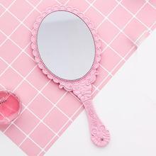 Creativo diseño vintage maquillaje espejo Oval redondo espejos cosméticos belleza las mujeres las niñas espejo herramienta