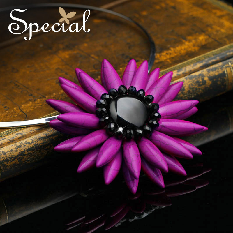 Special New Fashion Maxi Necklaces & Pendants Flower Torques Black Onyx Choker Necklace Natural Stone Gifts for Women XL150408 special new fashion natural stone maxi necklace black onyx big necklaces