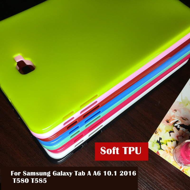 Colorful Case For Samsung Galaxy Tab A A6 10.1 2016 T580 T585 SM-T580 T580N tablet case Soft Silicone TPU Back Cover Case купить недорого в Москве