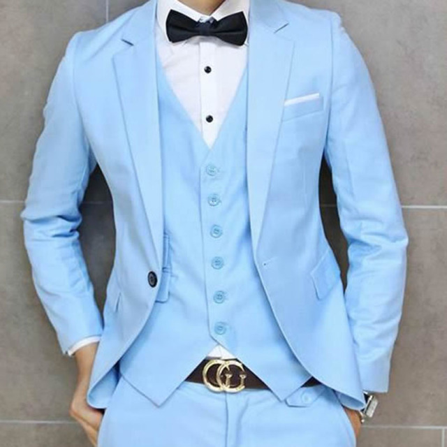 a973be9b74242 CUSTOM MADE BABY BLUE GROOM SUIT