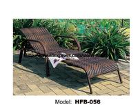 Classic Leisure Sun Lounger Rattan Outdoor Lying Sofa Bed Lying Chair Swing Pool Furniture Holiday Party Garden Rattan Chair