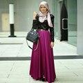 Musulmana y Hijab Moda Faldas Largas Por Encargo Chic Invisible Zipper Una Línea de Piso-Longitud Mujeres Faldas Maxi Faldas