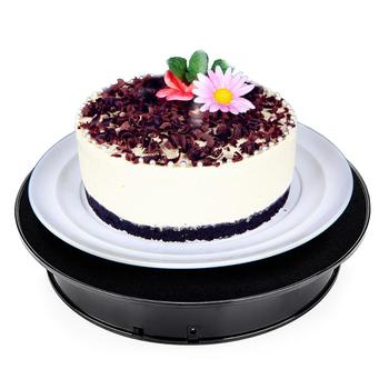 30cm black velvet top electric rotating display turntable, jewelry display stand party cake video photography display stand
