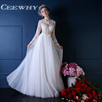 Custom Made Organza White Illusion Full Sleeve Embroidery O Neck Floor Length Backless Women Mermaid Evening