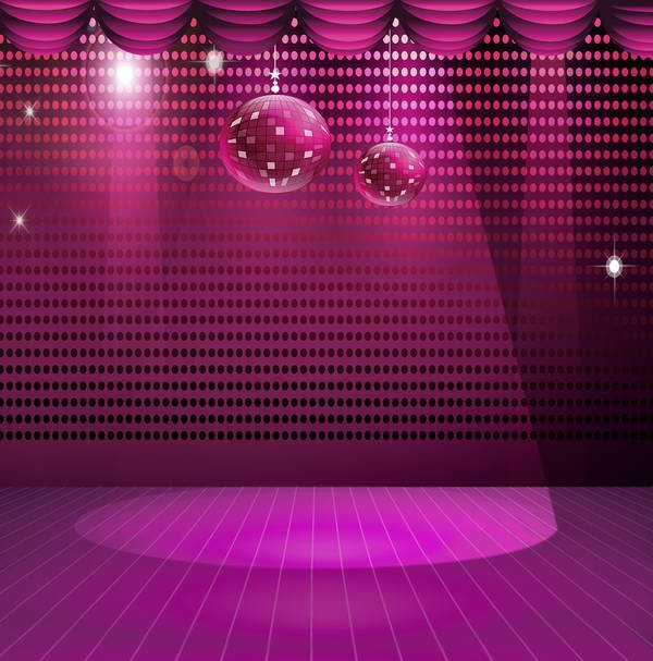 Purple Dj Polka Dot Light Curtain Led Stage Disco Party