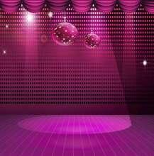 Polka Dot Cortina de Luz Led Stage Disco Party Dj roxo Fundos Vinil cenários de pano de parede de Alta qualidade de impressão Computador
