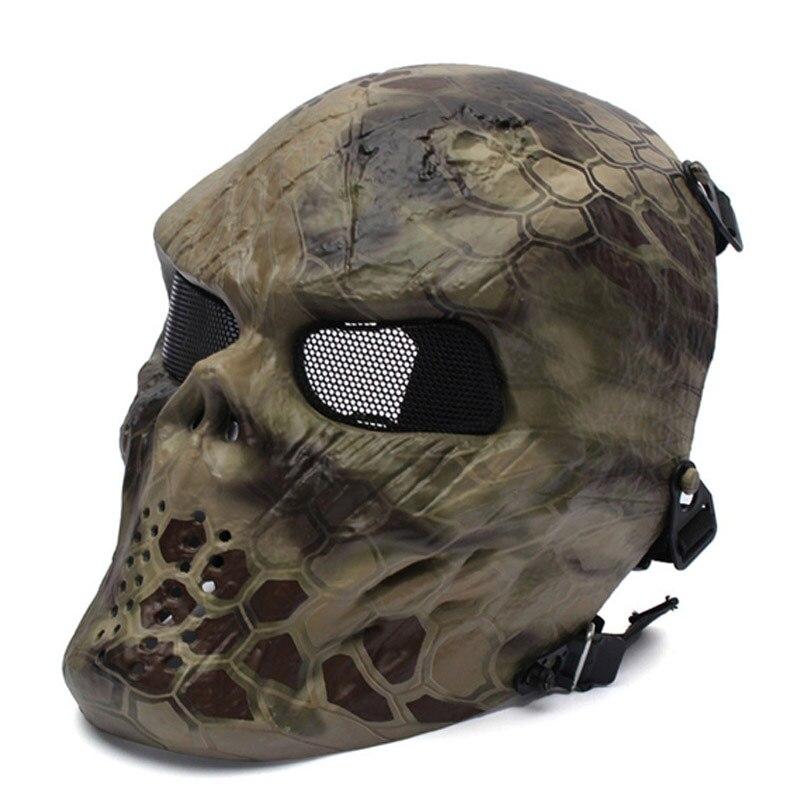 Airsoft tactique Protection visage complet masque crâne Camouflage CS Wargame M06 sécurité chasse Paintball Sport accessoire