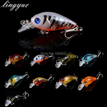 LINGYUE Crankbaits Wobble Slow Floating Jerkbait Lure 4 5cm 4g Fishing Bait 8 Hooks Fishing Tackle