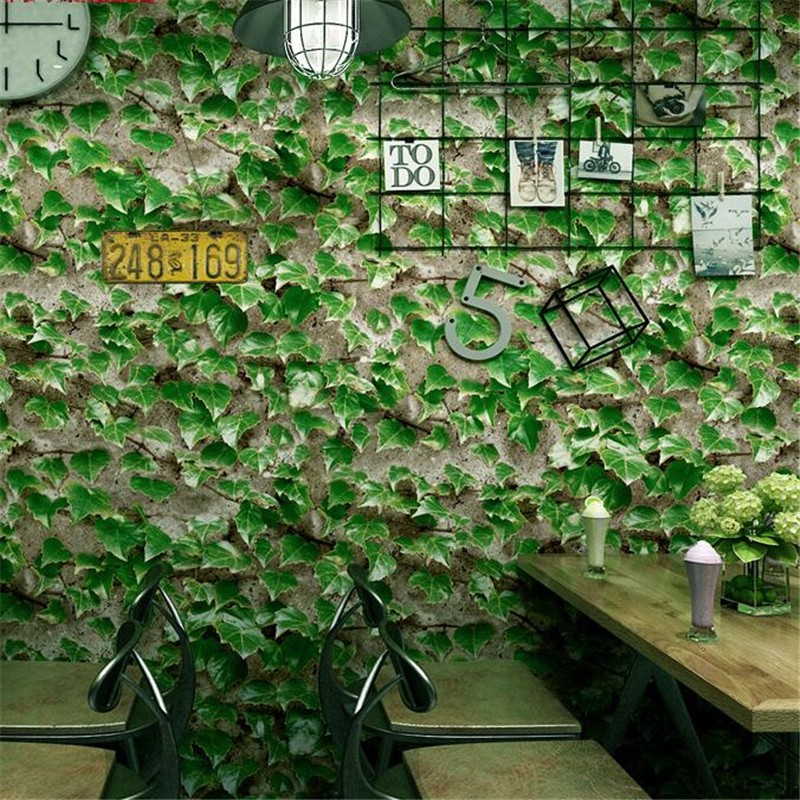 Us 29 02 29 Off Beibehang Wallpaper Restaurant Restaurant Snack Decoration Small Restaurant Wallpaper Retro Ivy Green Leaf Background Wallpaper In