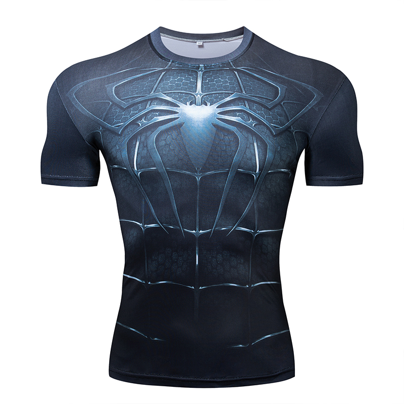 2019 New Top Sales Superhero T shirt Superman Spiderman Batman Avengers Captain America Ironman Style Clothing S 3XL in T Shirts from Men 39 s Clothing