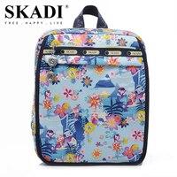 SKADI Mermaid Cartoon Waterproof Nylon Students Women Backpacks Flower School Backpacks For Kids Leisure Bags Backpacks
