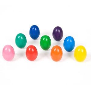 Image 1 - 9 Kleuren/Set Veiligheid Niet Giftig Wax Creatieve Kinderen Kwast Kleurpotloden Effen Eivorm Geschenken Baby Speelgoed tekening Pigment Art Sup
