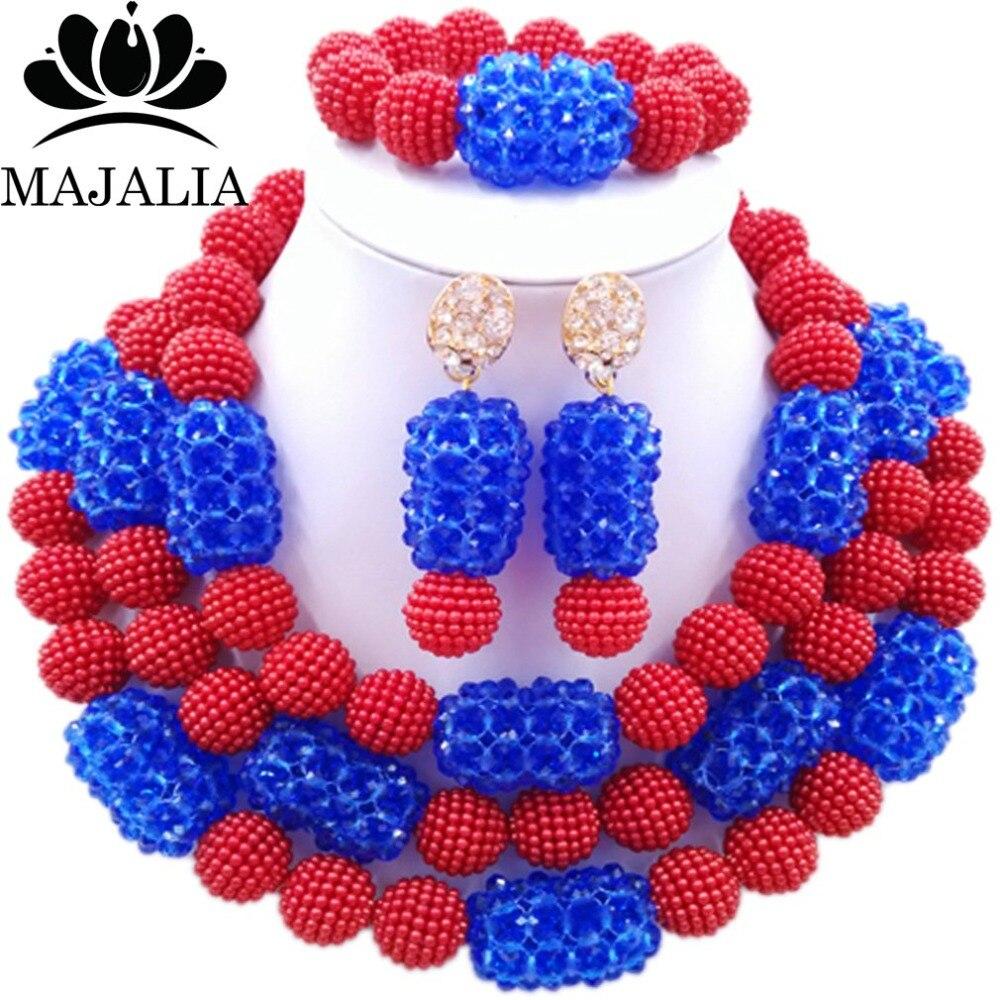 Fashion african jewelry set red Plastic Nigeria Wedding african beads jewelry set Free shipping Majalia-216 цены