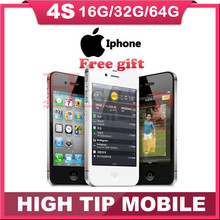 100% Original Unlocked iPhone 4S Mobile Phone 16GB ROM Dual core WCDMA 3G WIFI GPS 8MP Camera Cell Phones One Year Warranty(China (Mainland))
