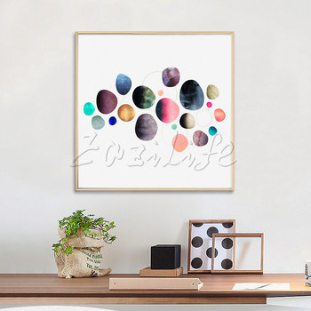Poster and print  colorful ,Nordic modern abstract watercolor on canvas,wall pictures for living room home decor,cuadros art