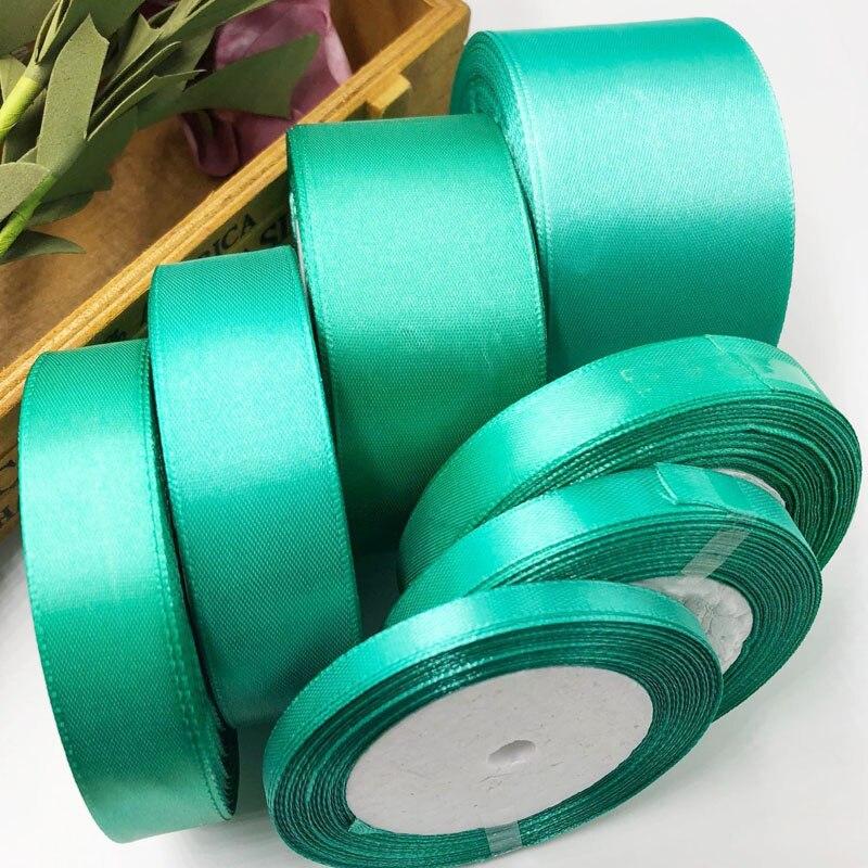 054, Бесплатная доставка Оптовая продажа 25 ярдов шелковый атлас ленты, свадебные декоративные ленты, подарок обёрточная бумага, DIY материалы ручной работы