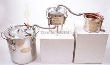 New 3 Pots DIY 2 Gal 10L Home Alcohol Moonshine Copper Still Water Brandy Whiskey Distiller Boiler Thumper Keg Kit ESY