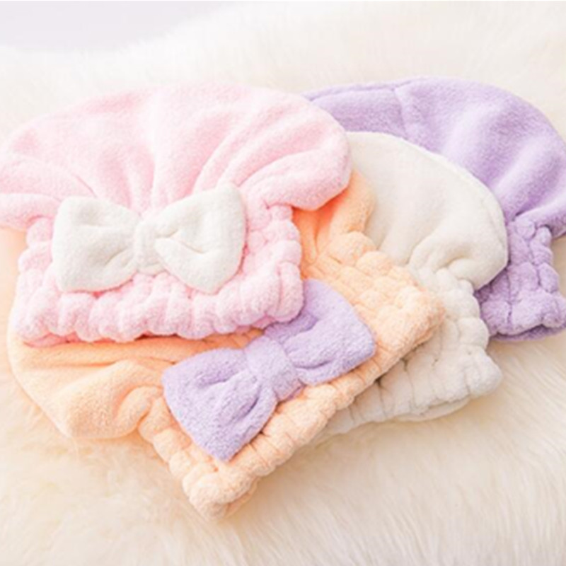 Cheap Towe Soft Girl Hair Wrap Women Bathroom Super Absorbent Quick-drying Microfiber Bath New Hair Dry Cap Salon Colorful Towel