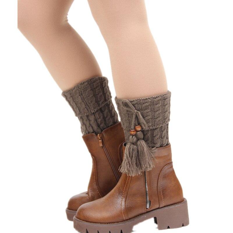 Underwear & Sleepwears Smart Fashion Winter Tassel Leg Warmers For Women Knit Boot Socks Twist Crochet Boot Cuffs Ladies Legwarmers Boot Toppers Gaiters Leg Warmers