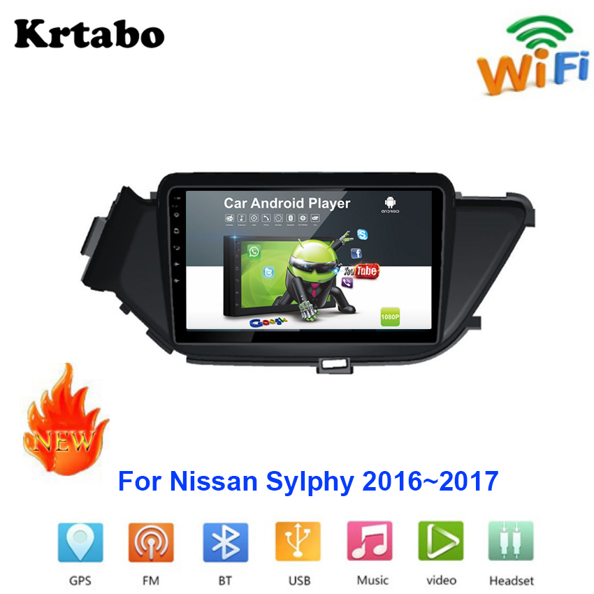 Car radio Android multimedia player For Nissan Sylphy Sentra Pulsar 2016~2017 Car touch screen GPS Navigation Support Carplay