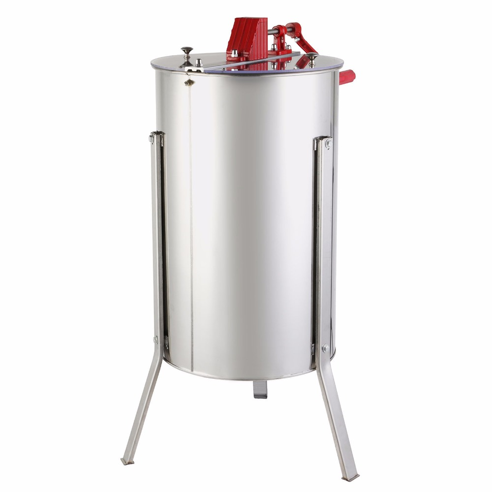 Three 3 Frame Stainless Steel Bee Honey Extractor SS Honeycomb Drum New