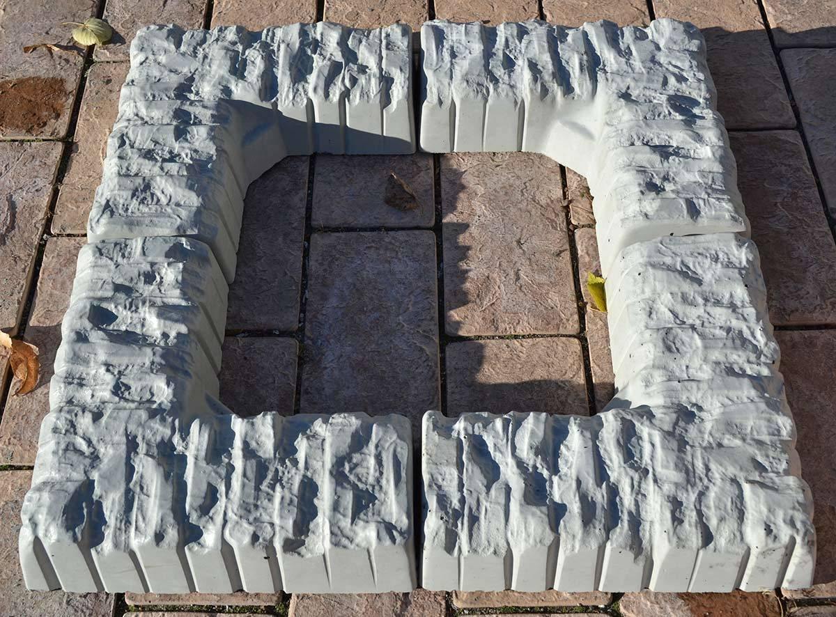Concrete molds Border Flower stone Garden decor edging sold set 2 pcs S38