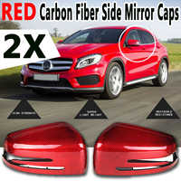Carbon Fiber Side Rear view Mirror Cover Replacement Caps Shell Covers for Mercedes for Benz W204 C250 C300 C63