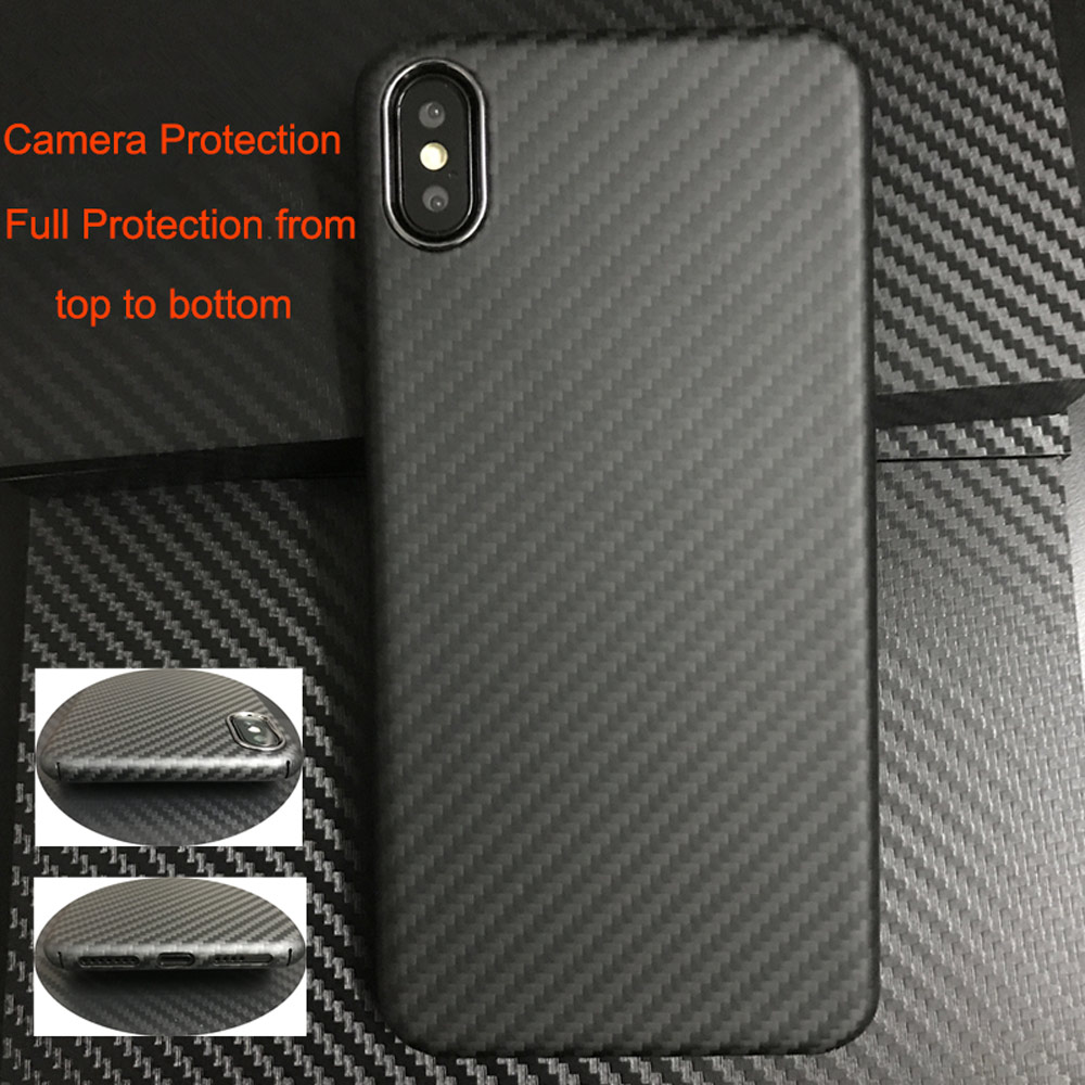 Image 2 - 0.7mm Ultra Thin Luxury Carbon Fiber Pattern For iPhone XR XS XS MAX Case Cover Full Protective Aramid Fiber Case For iPhone X-in Fitted Cases from Cellphones & Telecommunications