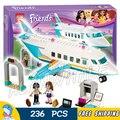 236 unids nuevos amigos 10545 niñas princesa heartlake alanwhale jet privado diy bloques 3d juguete de regalo compatible con lego