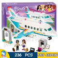 236pcs New Friends 10545 Girls Princess Heartlake Private Jet DIY 3D Blocks AlanWhale Toy Gift Compatible With Lego