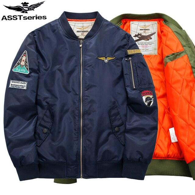 7c840f917e344 2018 Spring Bomber Jacket Men Military Jacket For Men Men s MA-1 Style Army  Tactical Baseball Jacket Chaqueta Hombre Jaquet.DA24