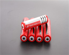 8pcs/lot 18650 Battery Newest Li-ion Rechargeable battery 3.7V for Flashlight Red Free shippng