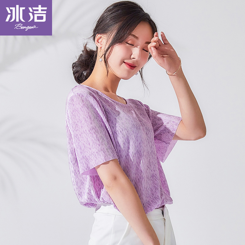 2019 Summer New Casual Knit Wear womens clothing Solid Color korean Round Neck Short Sleeve Tops Women T Shirt J90221260