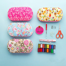 Portable Mini Sewing Kit Needle Thread Hand Box Tool DIY Assorted Crochet Full Set Measure Tape Scissor
