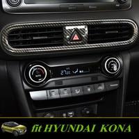 Fit For Hyundai Kona/Kauai 2018 Central Air Outlet Frame Decoration Stickers Auto Interior Frame for KONA KAUAI