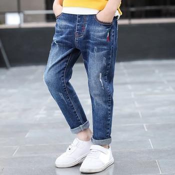 DIIMUU Kids Clothing Boys Children Straight Denim Pants Spring Autumn Long Trousers Teenage Baby Casual Sterch
