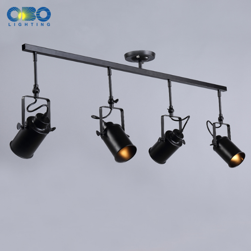 suspended lighting. Vintage Ceiling Lights Clothing Store Indoor Lighting Suspended Track Lamp E27 Holder 110 240V Free Shipping -in From \u0026 H