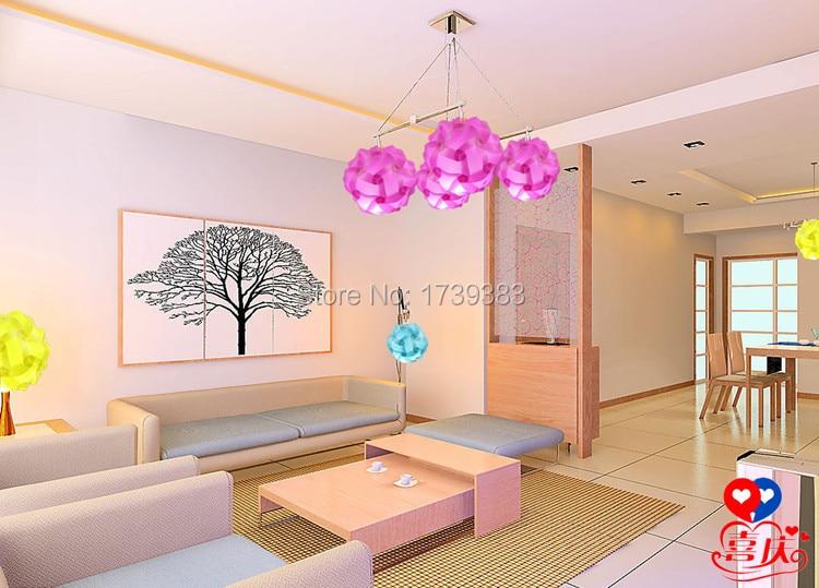 Diy European IQ Lampshade Modern Pendant Ball Novel Iq Lamp Jigsaw Puzzle Pendants Colorful Pendant Lights 10 inch For Bedroom