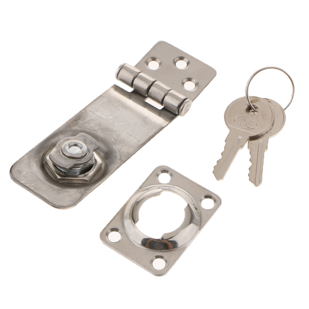 Image 5 - Twist Knob Keyed Locking Hasp Safety Hasp Lock for Marine Boat Gate & Cabinets 3.1 x 1.2 inch-in Marine Hardware from Automobiles & Motorcycles