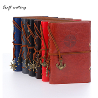 Travelers Notebook Diary Notepad Vintage Pirate PU A6 Leather Note Book Replaceable Stationery Gift Traveler Journal