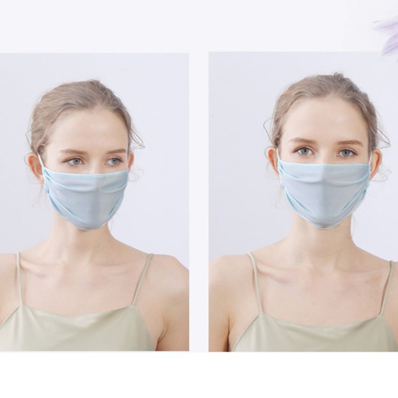 Summer Ice Silk Thin Sunscreen Open Nose Mouth Mask Cycling Earloop Respirator