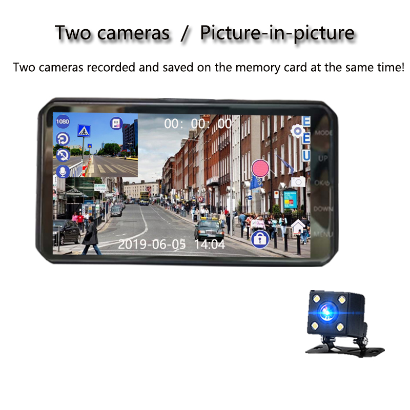 Image 4 - Jiluxing X20S 1080P 4 Inch Touch car DVR Dual Lens car cameras Dash Cam Auto Digital Video Recorder Registrator Loop video-in DVR/Dash Camera from Automobiles & Motorcycles