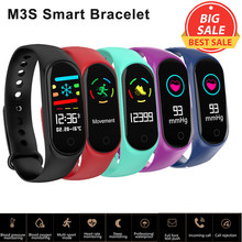 цена на M3S Smart Wristbands Blood Pressure Heart Rate Monitor Smart Band Fitness Tracker Pedometer Smart Bracelet