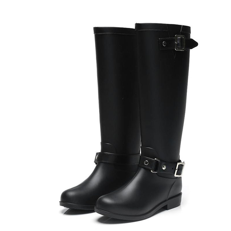 Pvc Women Rain Boots Girls Ladies Rubber Shoes For Casual Walking Hunting Hunter Outdoor Mid-calf Waterproof Female Low Heels цены онлайн