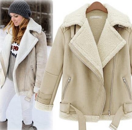 2eee5c917261 Winter Women s 2014 Suede Berber Fleece Lambs Wool Coat Women Thickening  Cotton-Padded Jacket Wadded Jacket Free Shipping C01