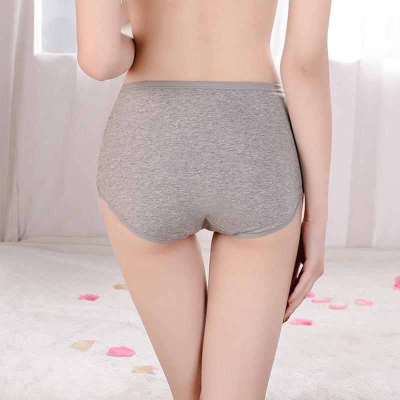 Ropa interior de algodón para mujer Bragas para mujer Cintura media Transpirable Ropa interior trigonométrica Bragas sexys para mujer Calzoncillos para dar forma al cuerpo