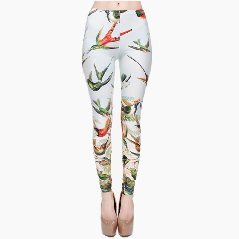 High Quality Birds Of Paradise 3D Printing Women Legging Casual Pants Trousers Elasticity Leggings